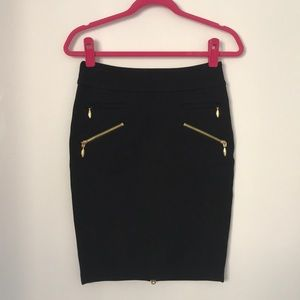 Juicy Couture black knit skirt